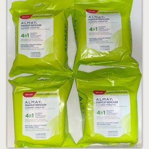 (4) Almay Clear Complextion 4in1 Wet Facial Wipes